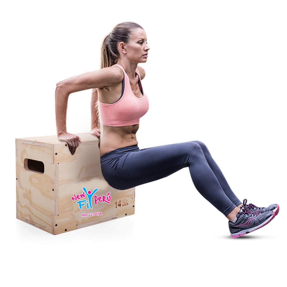 Caja Crossfit Para Salto Box Jump Pliométrico 3 Alturas En 1