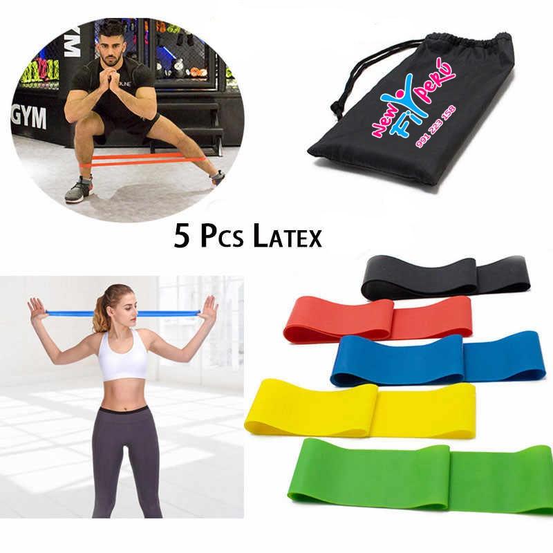 Kit 5 Mini Bandas Elásticas Circulares Gym pilates Crossfit