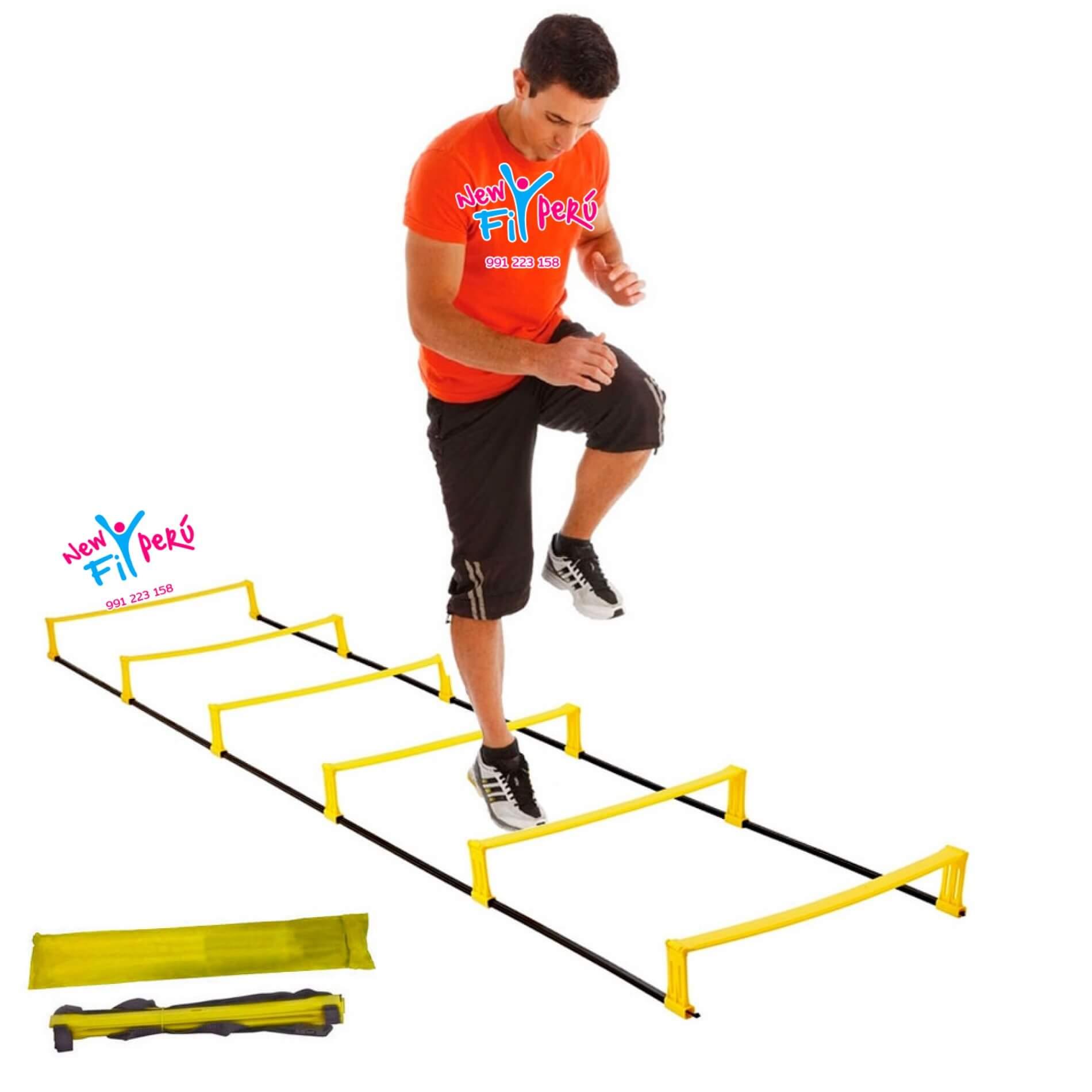 Escalera Agilidad Y Coordinación 2 En 1 / Con Y Sin Elevación