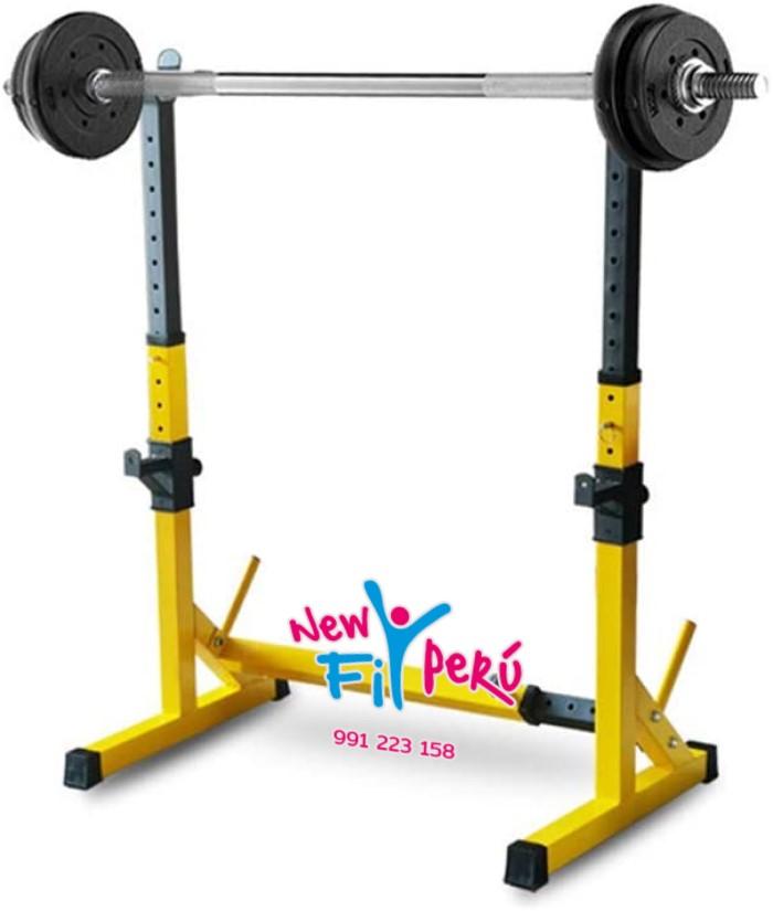 Rack Squat Premium Soporte para Sentadilla Pecho Gym Crossfit