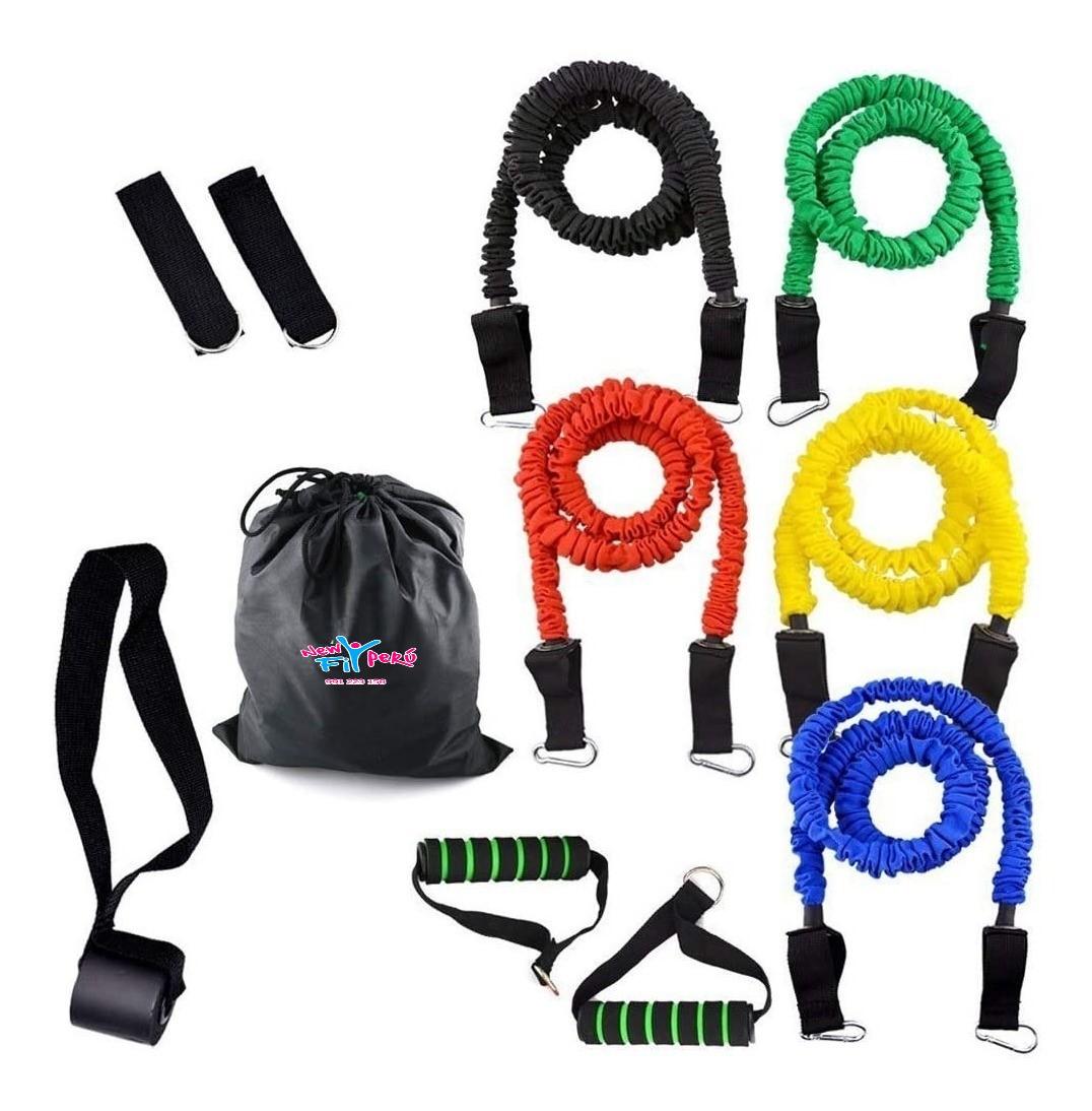 Kit / 5 Ligas de Resistencias variadas /Ligas Reforzadas / Fitness Pilates Gym YoEntrenoEnCasa