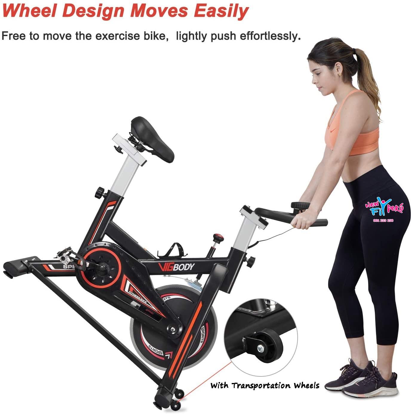 Bicicleta Spinning 7 YORK 1701 Volante De 18kg