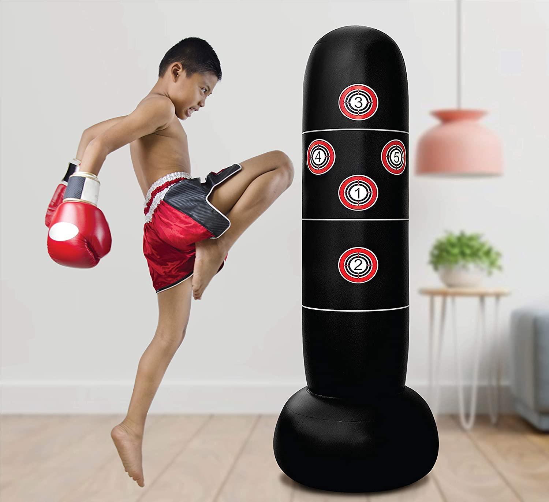 Saco de boxeo inflable, para practicas de artes marciales